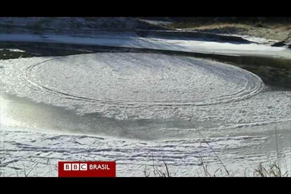 Nos Estados Unidos, um homem registrou um raro disco de gelo