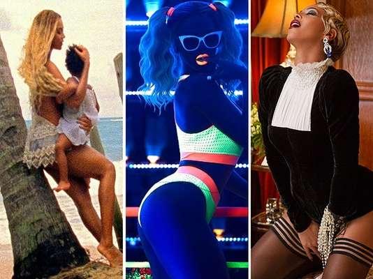 Beyoncé lançou um álbum surpresa, com 14 músicas e nada menos que 17 videoclipes. Confira cenas dos vídeos!