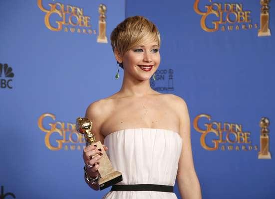 Jennifer Lawrence venceu como melhor atriz coadjuvante em Trapaça