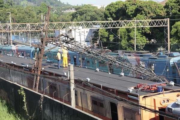 O acidente provocou lentidão em todos os ramais do sistema