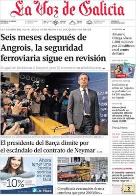 La Voz de GalíciaO presidente do Barça renuncia diante do escândalo do contrato de Neymar