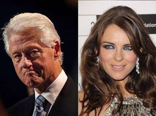 Los escándalos sexuales han salpicado a políticos tanto en Estados Unidos como en el mundo. El jueves, Bill Clinton nuevamente se vio envuelto en habladurías, luego que fuera señalado de mantener un amorío con la actriz y top model británica, Elizabeth Hurley. Sin embargo, pocas horas después la modelo negó que esto hubiera sucedido. Y dijo que dejaría todo en mano de sus abogados. Medios estadounidenses dijeron que el ex novio de Hurley, el también actor Tom Sizemore, fue quien reveló la supuesta relación, incluso señaló que la primera vez que tuvieron relaciones sexuales, lo hicieron en la Casa Blanca mientras Hillary Clinton dormía en otra habitación.