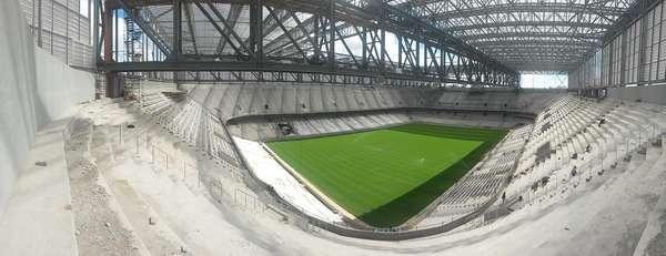 Após a confirmação de que Curitiba segue como cidade-sede da Copa do Mundo de 2014, o Atlético-PR voltou a divulgar fotos do palco paranaense para o Mundial: a Arena da Baixada o mais atrasado até aqui.