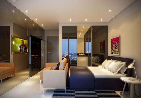 A empresa Vitacon criou uma série de empreendimentos imobiliários que priorizam os microapartamentos, cada um com uma área de 19m². Informações: (11) 3588-0888