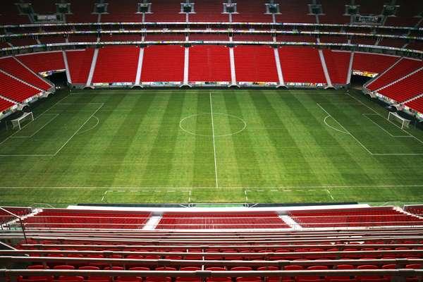 Palco da abertura da Copa das Confederações, o Mané Garrincha recebeu partidas do Campeonato Brasileiro de 2013