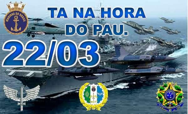 Montagem bélica compartilhada no Facebook sugere intervenção militar no Brasil