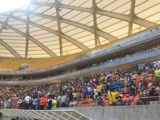 Sede de Manaus para a Copa do Mundo,Arena Amazônia foi inaugurada com um empate por 2 a 2 entre Nacional-AM e Remo pela Copa Verde