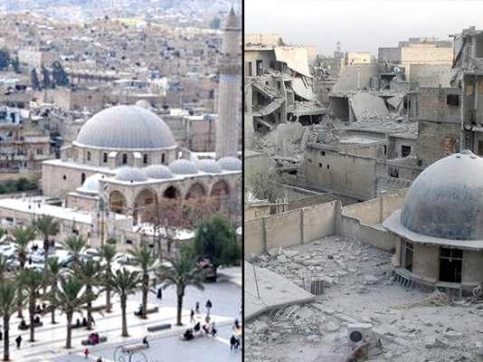 Guerra na Síria: veja o antes e o depois do conflito