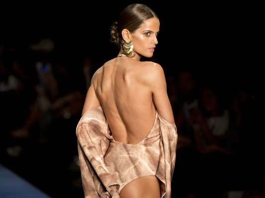 A top Izabel Goulart foi uma das principais atrações da marca