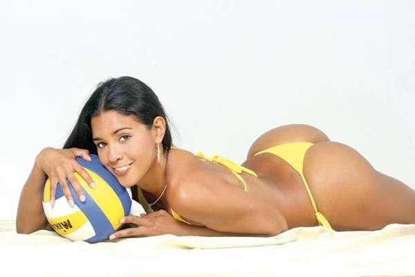 Rocío Miranda, jogadora peruana de vôlei, modelo, empresária e apresentadora de TV