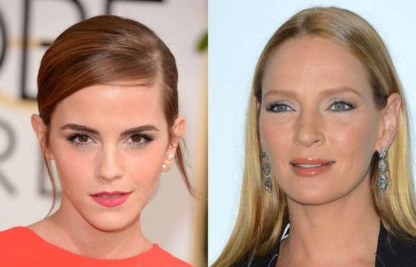 Celebridades como as atrizes Uma Thurman e Emma Watson adotam makes com sombra branca e mostram que se trata de uma nova tendência