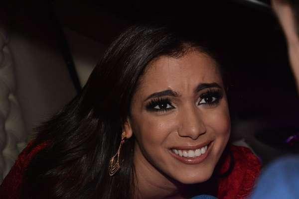 A cantora Anitta organizou coquetel no Espaço Onix, em São Paulo, para o lançamento da linha de perfumes Blá Blá Blá , tema da sua nova música, com fragrância para o dia e noite