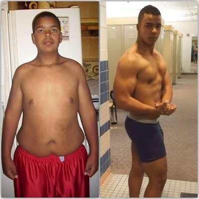 Adolescente perde 32 quilos depois de rasgar a calça