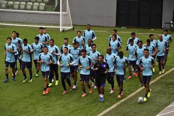 A seleção da Costa Rica treinou, nesta terça-feira, na Vila Belmiro, na cidade de Santos, em São Paulo