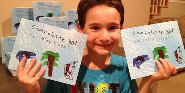 Para ajudar oamigo doente, Dylan Siegel, 7 anos, escreveu o livro Chocolate Bar (Barra de Chocolate). Ele decidiu que iria arrecadar dinheiro para contribuir com as pesquisas sobre a doença do amigo