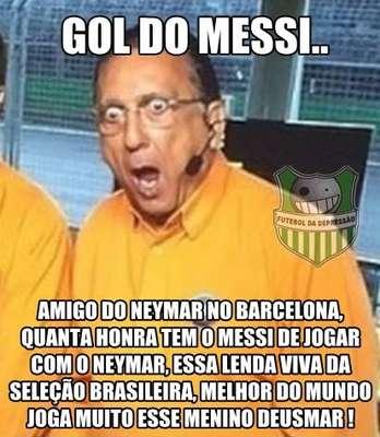 Galvão Bueno não esconde a torcida pela Seleção Brasileira, nem a admiração pelos jogadores convocados por Luiz Felipe Scolari. E, por isso, virou motivo de piada entre os internautas, que se inspiraram no narrador da TV Globo para criar memes