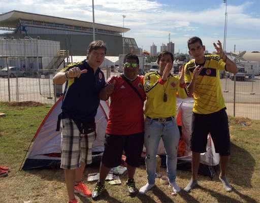 El campamento de camping colombiano en Cuiabá.