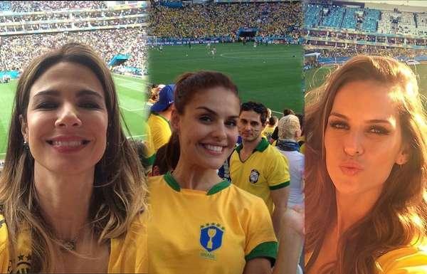 Famosas torcedoras embelezam as arquibancadas dos estádios durante os jogos do Mundial e mostram que o Brasil tem belíssimas mulheres