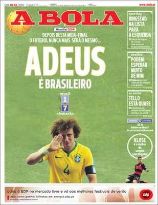 """A Bola (Portugal)""""Adeus é brasileiro"""""""