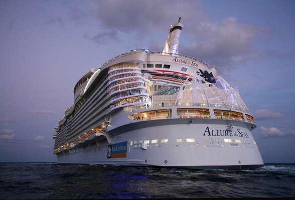 Imagens do Allure of the Seas poderão ser acessadas previamente para programar cruzeiro