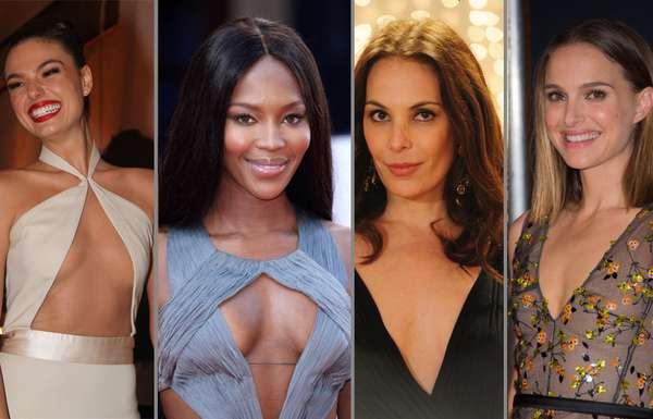 Isis Valverde, Naomi Campbell, Carolina Ferraz e Natalie Portman são exemplos de famosas que preferem manter as mamas naturais do que enfrentar o bisturi