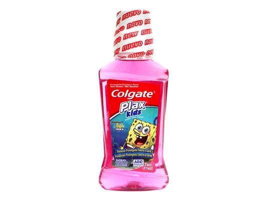 Colgate Plax Kids Bob Esponja: Específico para crianças, esse enxaguante tem fórmula sem álcool. Contém flúor que fortalece os dentes e os protege contra a cárie e as bactérias causadoras do mau hálito. Recomendado para maiores de 6 anos, tem sabor de Tuti-Frutti
