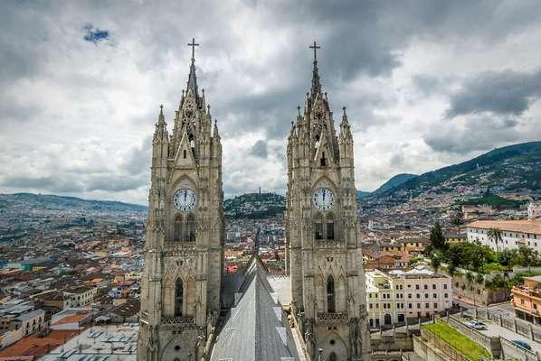A capital do Equador, Quito, é um dos destinos de cruzeiros pelo país