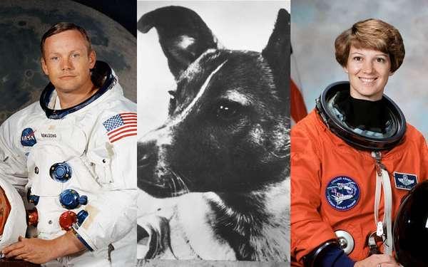 Você sabe qual foi o primeiro satélite artificial da Terra? E qual foi o primeiro animal a viajar em uma nave? Ou o primeiro homem e a primeira mulher a orbitar? Siga na galeria e confira essas e outras realizações históricas no espaço