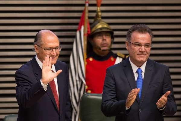O governador Geraldo Alckmin (PSDB) tomou posse para seu quarto mandato em São Paulo nesta quinta-feira