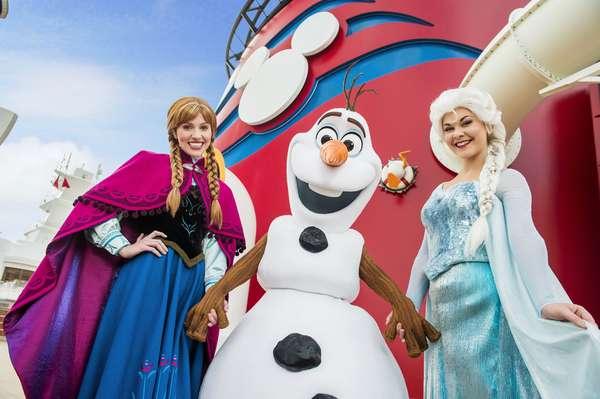 Cruzeiros com personagens de Frozen exploram a Noruega