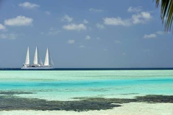 Os passageiros farão os cruzeiros a bordo do veleiro Le Ponant da companhia Ponant