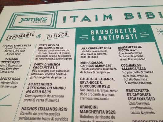 O Jamie's Italian, restaurante do britânico Jamie Oliver, foi inaugurado na última quarta-feira (25) em São Paulo; a casa fica localizada no bairro do Itaim Bibi