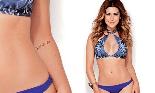 Fernanda Paes Leme tatuou a frase Let it Be em seu braço esquerdo