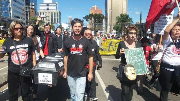 """Manifestantes entraram em """"luto"""" após confronto desta semana"""