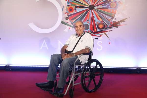 Elias Gleizer na festa de 50 anos da Globo, realizada em abril deste ano