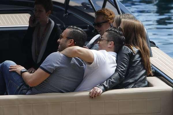 Cristiano Ronaldo em barco para acompanhar GP de Mônaco