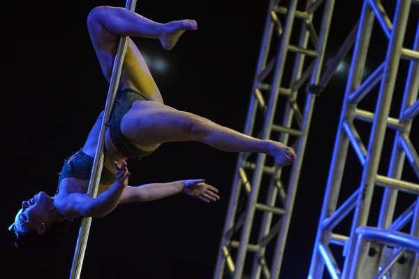 Competição de pole dance foi principal destaque da feira Arnold Classic Brasil 2015, promovida por Arnold Schwarzenegger e que acontece neste sábado (30) no Rio de Janeiro