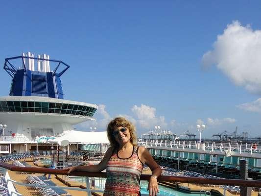 A leitora Madalena, de Brasília (DF), viajou pelo Caribe e Antilhas em novembro de 2013, a bordo do navio Monarch, da Pullmantur