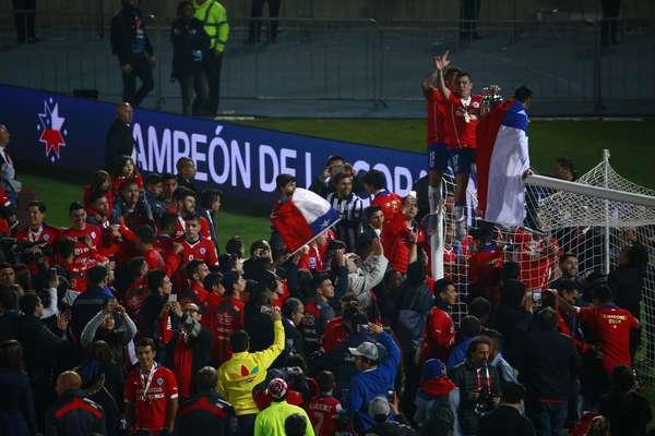 Chilenos festejaram muito a conquista inédita