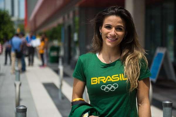 Jade Barbosa aproveitou estrutura de academia local