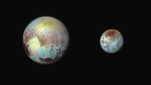 Nasa divulga imagens de Plutão coloridas por computador. As fotos foram registradas pela sonda New Horizons