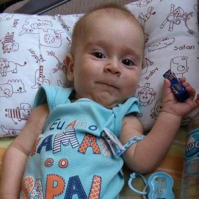 Miguel é um bebê paulistano de cinco meses de vida que foi diagnosticado com Atrofia Muscular Espinhal Tipo 1
