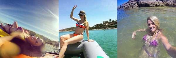 A ginasta Natália Gaudio abastece seu Instagram com frequência e deixa os marmanjos babando com suas fotos