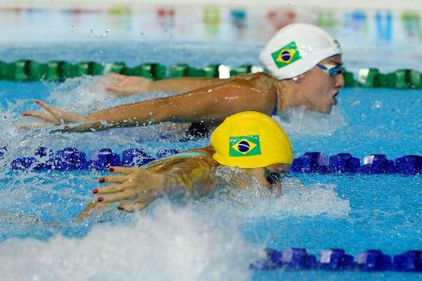 Brasileiros se destacaram novamente na natação e se despedem do Pan-Americano de Toronto; veja imagens do último dia de competição