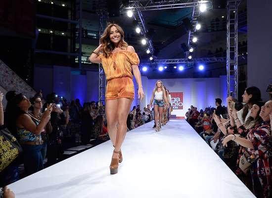 Sabrina Sato desfilou nesta terça-feira (21) no evento de moda no Brás, em São Paulo