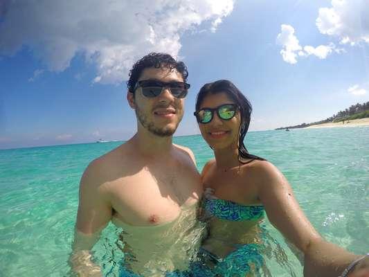 Vanessa Iraty aproveitou seu primeiro cruzeiro ao lado do marido, Marcos de Almeida