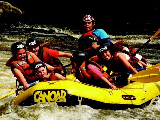 Esportes radicais, como rafting, também entram na lista de presentes