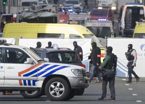 Atentados terroristas no aeroporto e metrô de Bruxelas, na Bélgica, deixaram vários mortos