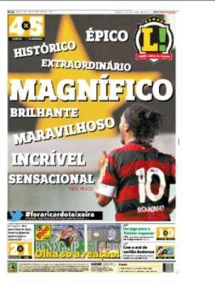 Capa - Diário LANCE! - Rio - Edição de 28/07/2011