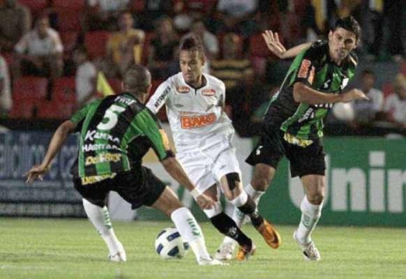 Último confronto: América-MG 1x2 Santos - 21/09/2011